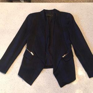 Zara Striped Silk Blazer